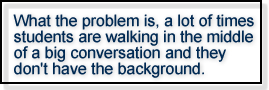 quote-walking into a conversation